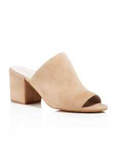 Kenneth Cole Vega Suede High Heel Slide Sandals