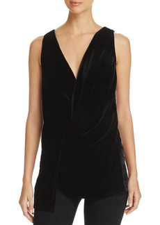 Kenneth Cole Velvet Twist-Front Top