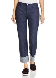 Kenneth Cole Wide-Cuff Boyfriend Jeans in Raw