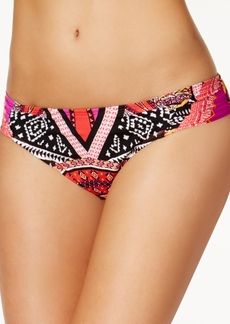 Kenneth Cole Without Borders Printed Side-Tab Hipster Bikini Bottoms Women's Swimsuit