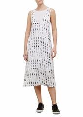 Kenneth Cole Women's 2 Layered Tank Dress  L