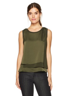Kenneth Cole Women's 3-Layer Sleeveless Top  S