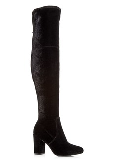 Kenneth Cole Women's Abigail Velvet Over-the-Knee Boots