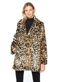 Kenneth Cole Women's Animal Faux Fur Coat  L