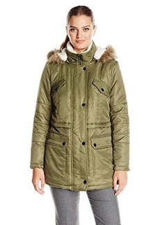 Kenneth Cole Women's Anorak Parka with Sherpa Trim