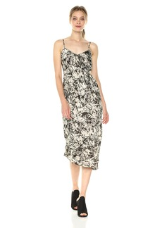 Kenneth Cole Women's Camisole Flounce Dress Camofoliage-Muslin Extra Small