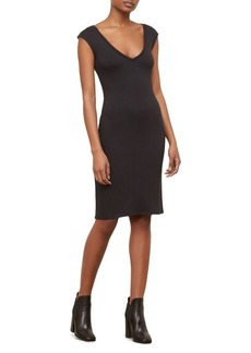 Kenneth Cole New York Classic Fitted V-Neck Dress