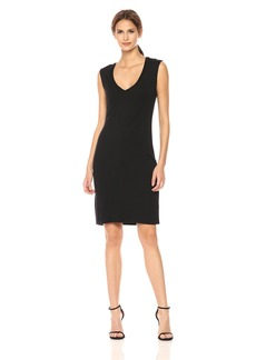 Kenneth Cole Women's Classic Fitted V-Neck Dress  XS