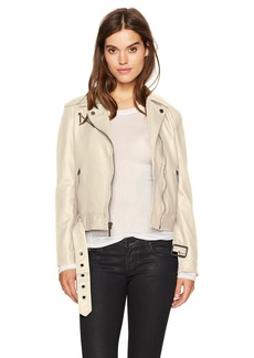 Kenneth Cole Women's Classic Moto Jacket tucco
