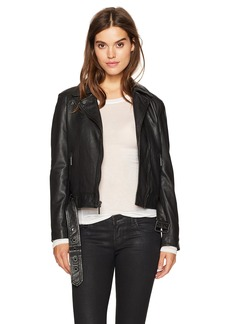 Kenneth Cole Women's Classic Moto Jacket  XL