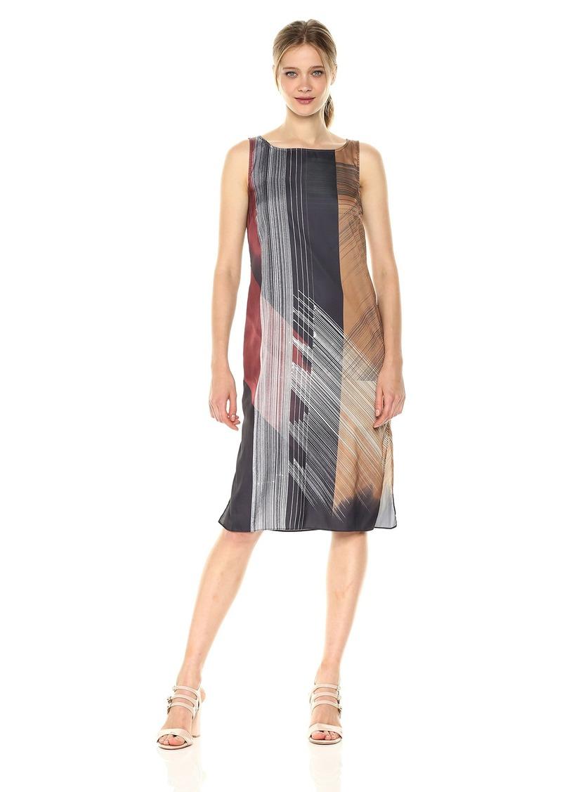 Kenneth Cole Women's Column Overlay Dress  S