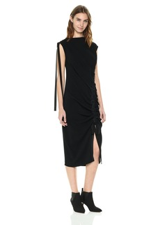 Kenneth Cole Women's Curved Drawstring Dress