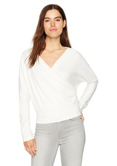 Kenneth Cole Women's Dolman Crossover Top  L
