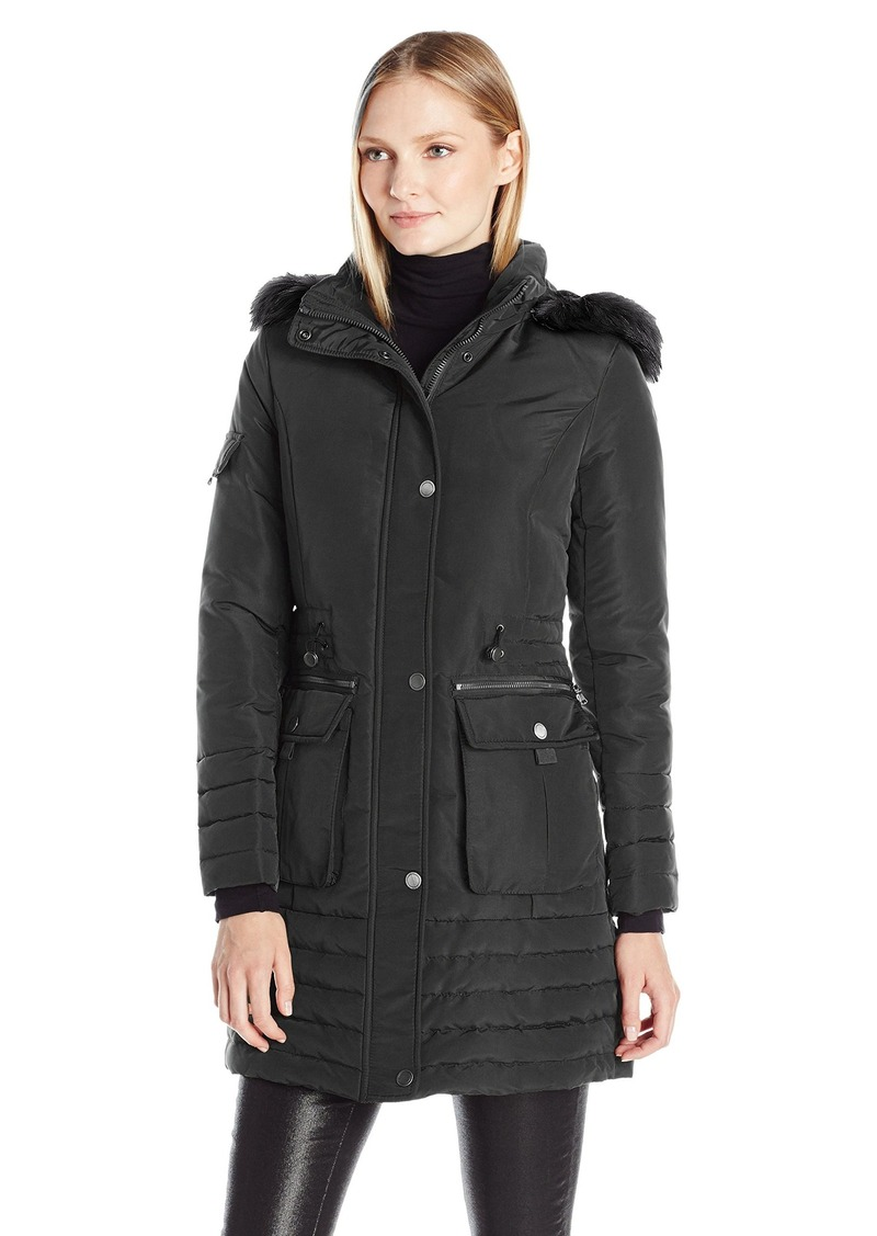 Women's down parka with fur