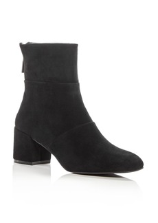 Kenneth Cole Women's Eryc Suede Block Heel Booties