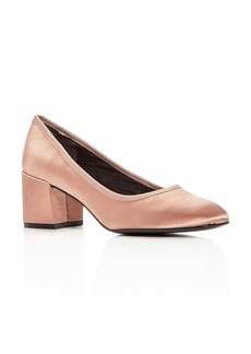 Kenneth Cole Women's Eryn Satin Block Heel Pumps