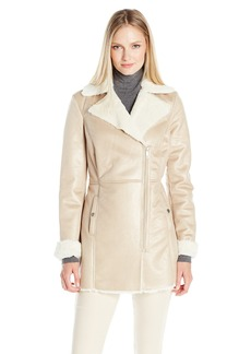 Kenneth Cole Women's Faux Shearling Coat