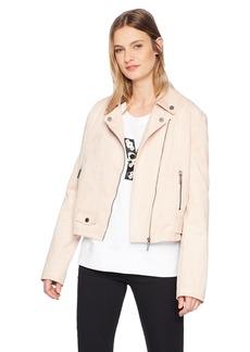 Kenneth Cole Women's Faux Suede Moto Jacket  S