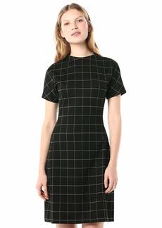 Kenneth Cole Women's Flex Sheath Dress Window pane