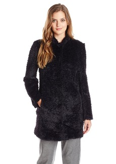 Kenneth Cole Women's Fuzzy Faux Fur Coat