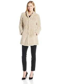 Kenneth Cole Women's Fuzzy Faux Fur Coat  Medium
