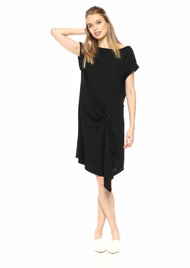 Kenneth Cole Women's Gathered Front Detail Dress  M