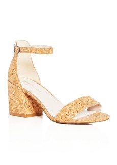 Kenneth Cole Women's Hannon Glitter Cork Ankle Strap Block Heel Sandals
