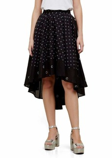 Kenneth Cole Women's Hi-lo Border Hem Skirt