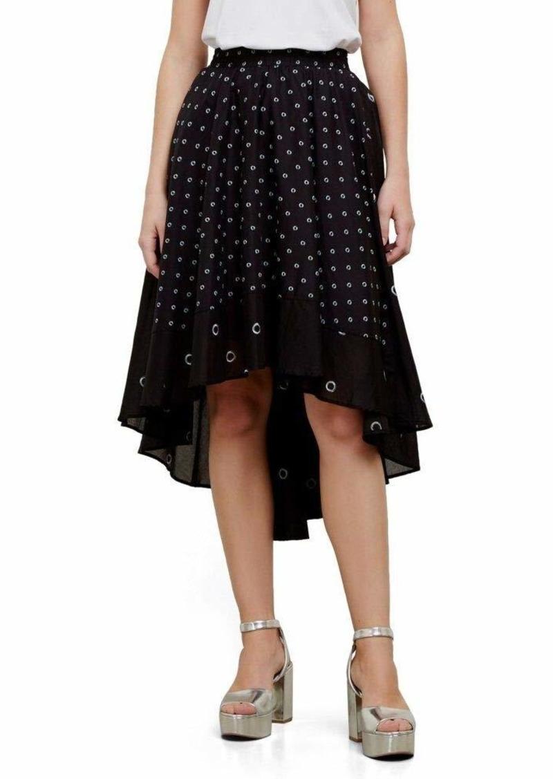 Kenneth Cole Women's Hi-lo Border Hem Skirt