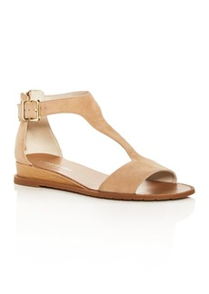 Kenneth Cole Women's Judd Suede T-Strap Demi Wedge Sandals