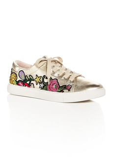 Kenneth Cole Women's Kam Leather Floral Appliqu� Lace Up Sneakers