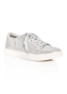 Kenneth Cole Women's Kam Shine Embellished Nubuck Leather Lace Up Platform Sneakers