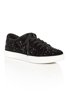 Kenneth Cole Women's Kam Shine Embellished Suede Lace Up Platform Sneakers