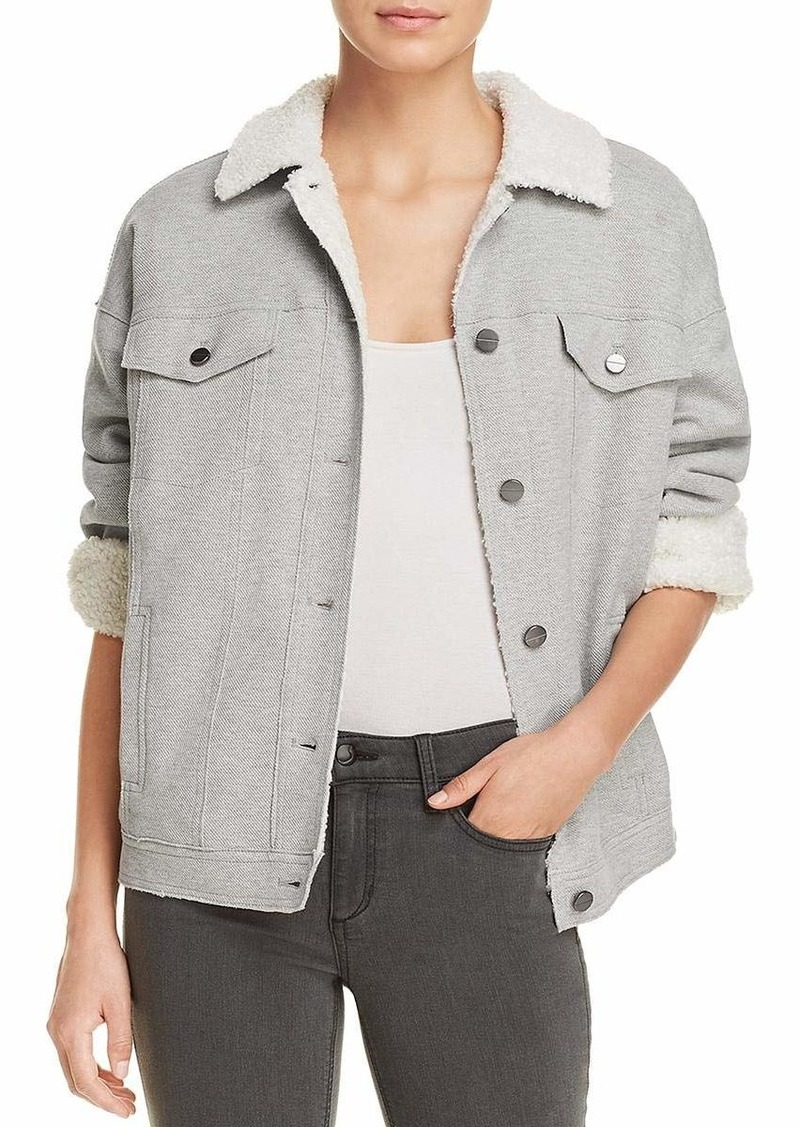 Kenneth Cole Women's Knit Trucker Jacket  L
