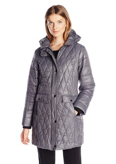 Kenneth Cole Women's Lightweight Diamond Quilted Coat