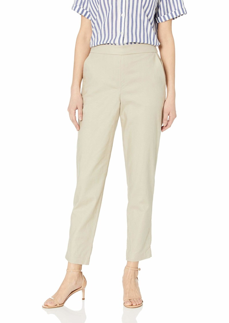 Kenneth Cole Women's Linen Pull ON Pant  M