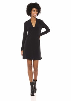 Kenneth Cole Women's Long Sleeve V-Neck Dress  L