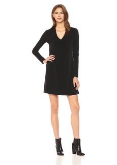 Kenneth Cole Women's Long Sleeve V-Neck Dress  M
