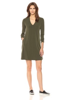Kenneth Cole Women's Long Sleeve V-Neck Dress  S