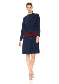 Kenneth Cole New York Colorblock Drawstring Waist Dress