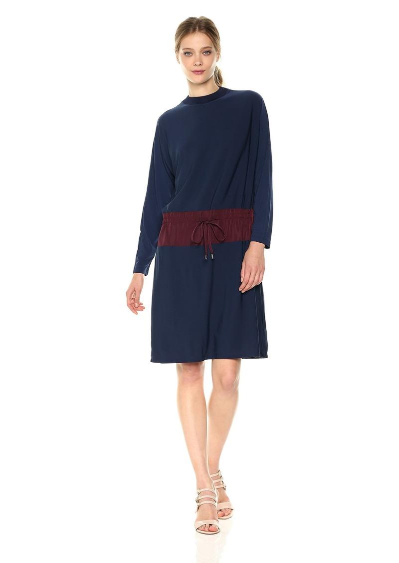 Kenneth Cole Women's Mixed Media Drawstring Waist Dress  XL