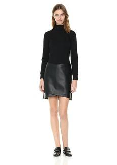 Kenneth Cole Women's Mixed Media Mock Dress  L