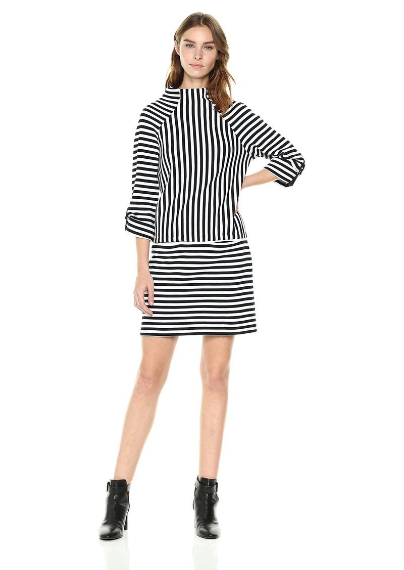 Kenneth Cole Women's Mock Neck Tee Dress  XL