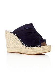 Kenneth Cole Women's Odele Suede Espadrille Wedge Slide Sandals