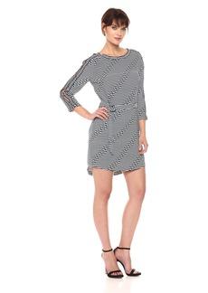 Kenneth Cole Women's Off The Shoulder Dress Offset STRP Indigo L
