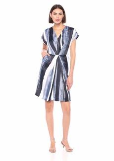 Kenneth Cole Women's Origami Pleat Dress  L