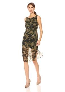 Kenneth Cole Women's Overlay Column Dress  XL