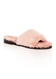Kenneth Cole Women's Peggy Faux-Fur Slide Sandals