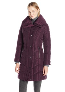 Kenneth Cole Women's Pillow Collar Down Puffer Coat
