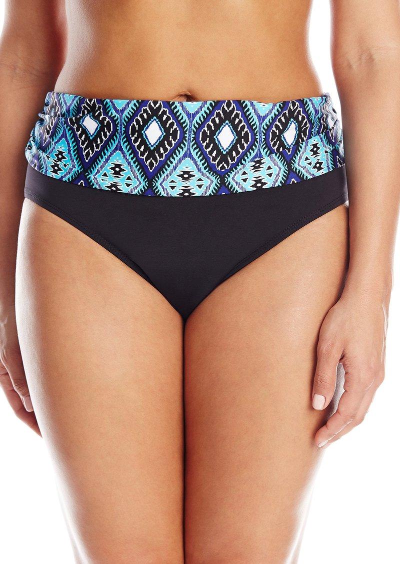 Kenneth Cole Women's Plus-Size Coastal Escapade Sash Hipster Bikini Bottom